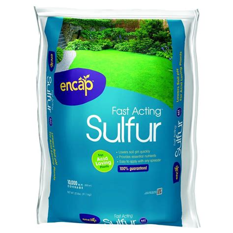 Ideas For Kitchen Window Treatments - 20 lb fast acting sulfur 100510896 the home depot