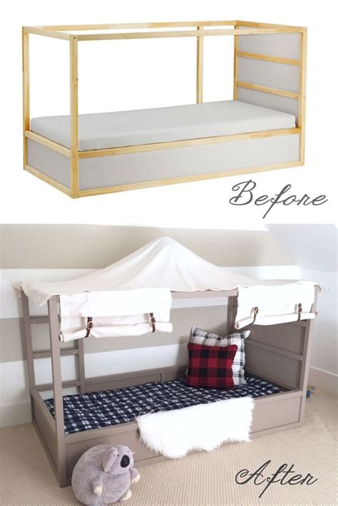 bed hack harlow thistle diy boy canopy bed ikea kura hack boys room pinterest boys ikea kura