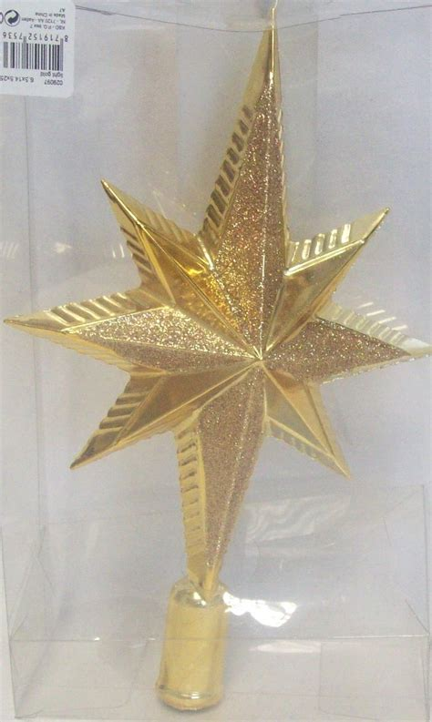 decoris luxury glitter shatterproof star christmas tree
