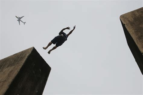 Twin Towers Jetliner Man Leaping Reading The Pictures