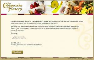 The Cheesecake Factory Feedback – www ...