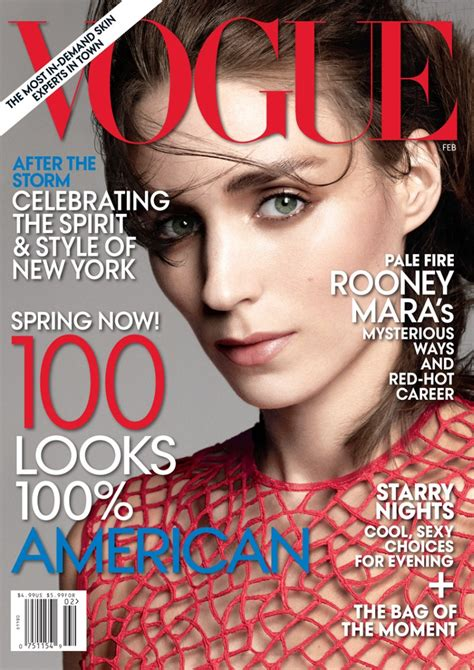 Rooney Mara Graces the February 2013 Cover of Vogue US ...