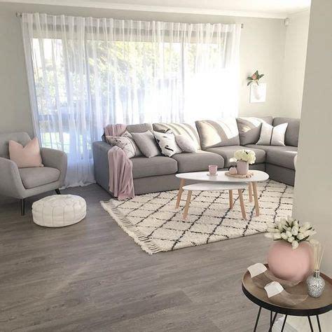 green grey pink living room images  pinterest
