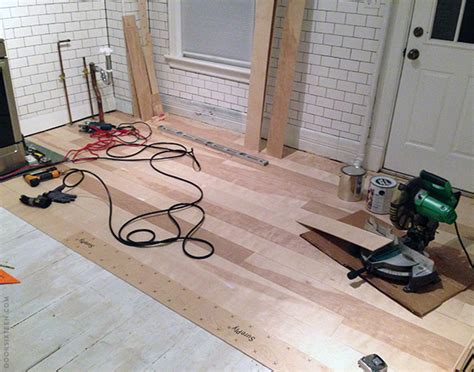 Installing A Plywood Plank Kitchen Floor, Part One  Door