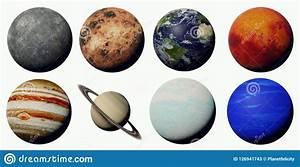 Los Planetas De La Sistema Solar Aislada En El Fondo Blanco Stock De Ilustraci U00f3n