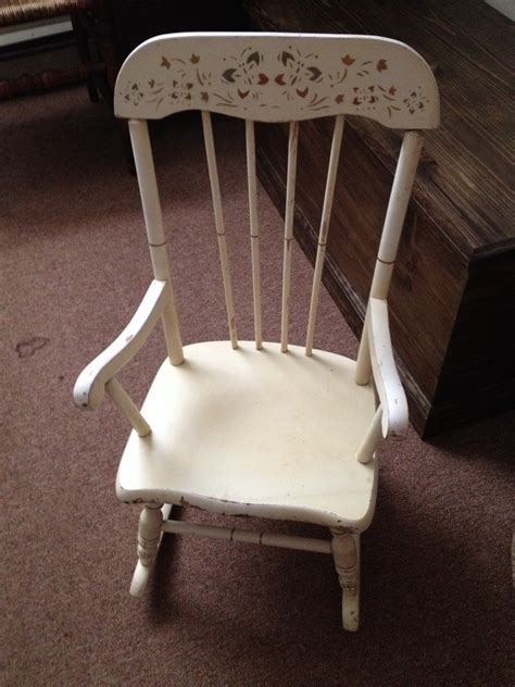 I Have An Oak Hill Child's Rocker That Was My Husband's ...