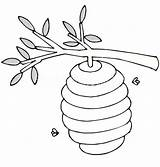 Hive Bee Coloring Beehive Tree Branch Pages Drawing Branches Printable Colouring Netart Objects Getdrawings Maze Clip Getcoloringpages sketch template