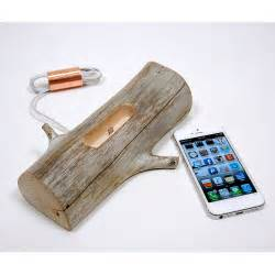 Driftwood iPhone Dock Charging