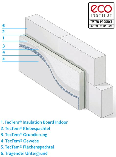 tectem insulation board indoor innend 228 mmung mit perlit d 228 mmplatte tectem insulation board indoor