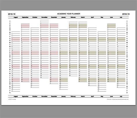 academic year planner calendar printable infozio