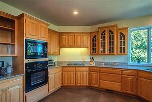 kitchens kitchen paint colors 2017 with golden oak With kitchen colors with white cabinets with good vibes only wall art