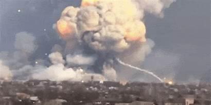 Explosion Ukrainian Military Weapons Landscape Spectacular Pop
