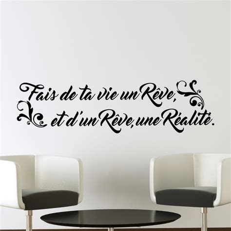 stickers muraux citations pas cher sticker citation fais de ta vie un r 234 ve pas cher stickers citations discount stickers
