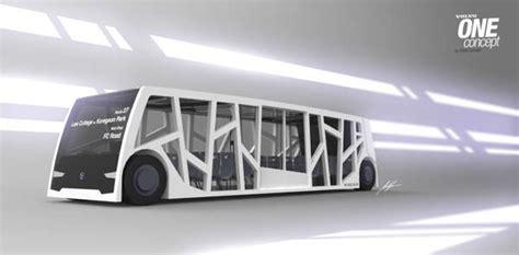 bare boned modern buses volvo  bus