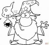 Coloring Wizard Pages Potion Magic Crazy Drawing Main Skip sketch template