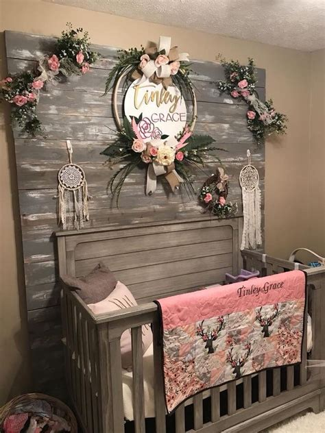 country themed baby girl nursery baby decor rustic baby