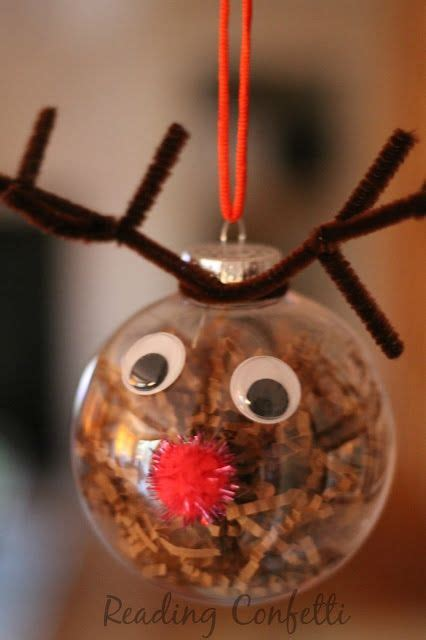 cute  easy reindeer ornaments  kids