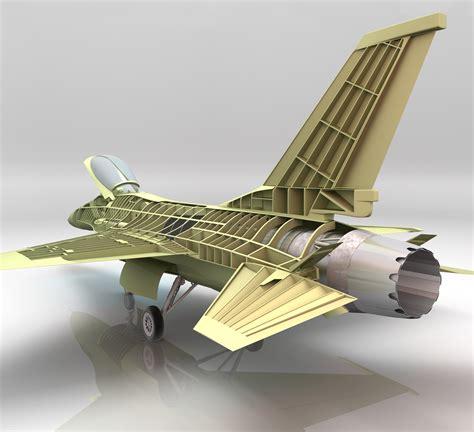 F-16 3d Technical Cutaway