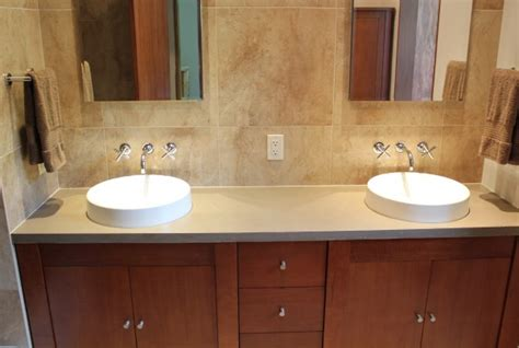 what to do when the kitchen sink is clogged surfacescapes custom cast concrete and concrete furniture 2270