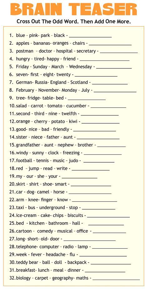 adult cognitive worksheets printable printableecom