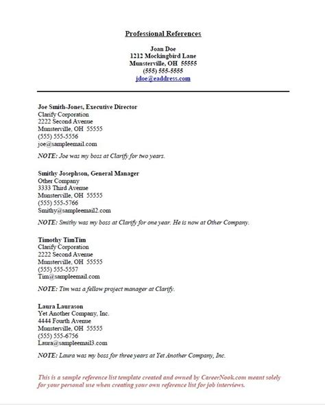 types of references for resume best resume gallery