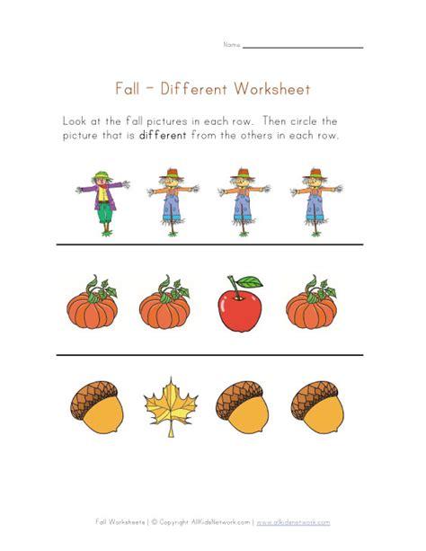 Autumn Worksheets For Preschoolers  Preschool And Kindergarten Fall Math Worksheets Learn Play