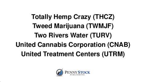 cannabis stock list  penny stock companies
