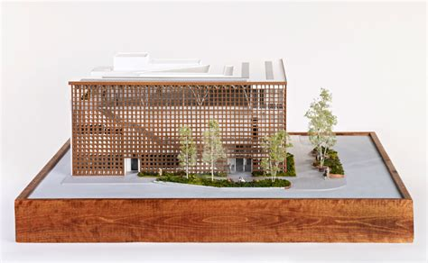 exclusive model images of shigeru ban s aspen museum