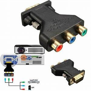 1pc Vga To Rca Adapter Computer Projector Connector