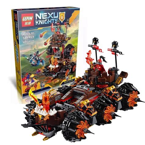 siege lego 14018 8017 nexus knights siege machine model building kits