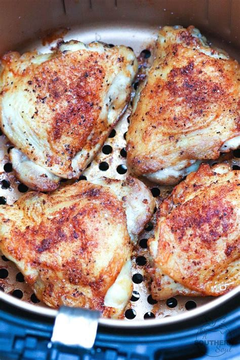 chicken fryer thighs air southern soul fried recipe oven crispy boneless skinless thigh skin recipes sandwich without asouthernsoul cooking