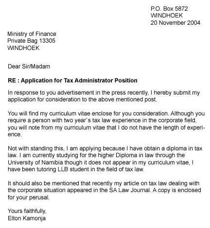 write  application letter   tips