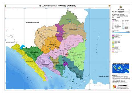 administrasi provinsi lampung peta tematik indonesia