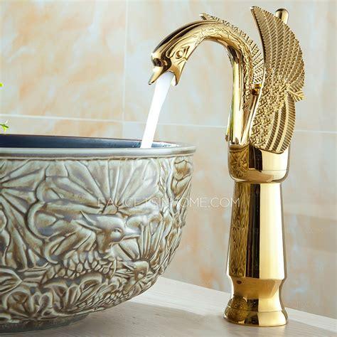luxury bathroom faucets luxury gold swan design vessel bathroom sink faucet