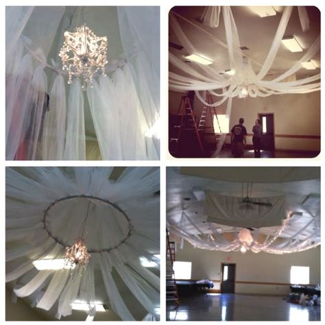 diy ceiling decor all you need is tulle pvc in hula hoop