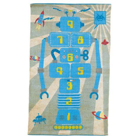 tapis marelle enfant robot maisons du monde