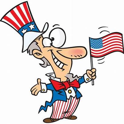 Cartoon Uncle Sam Flag Independence July Patriotic