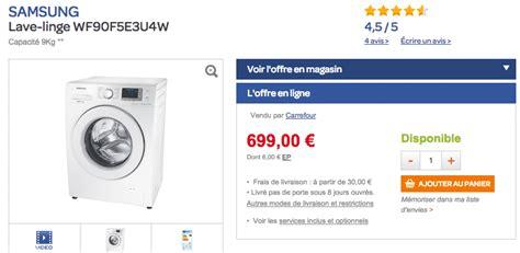 lave linge haut de gamme samsung eco 224 399 au lieu de 699 300