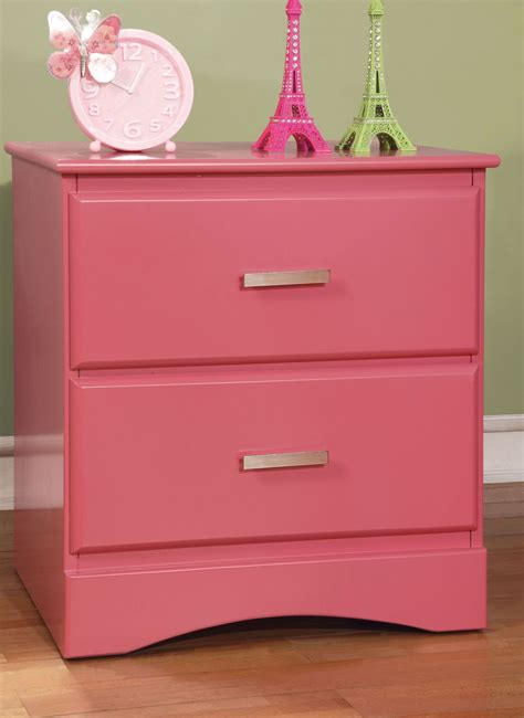 Pink Nightstand by Prismo Pink Stand From Furniture Of America