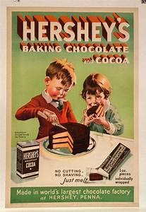 Original Vintage Hershey's Baking Chocolate Poster by ...
