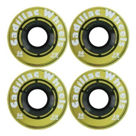 Cadillac Wheels Skateboard by Cadillac Wheels Clear Yellow Skateboard Wheels 56mm 78a