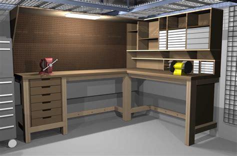 Garageshop Corner Lshape Workbench Design Woodworking