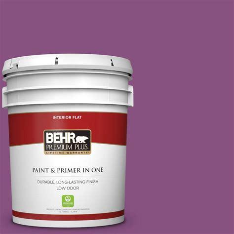 behr premium plus 5 gal home decorators collection hdc md 07 dynamic magenta flat low odor