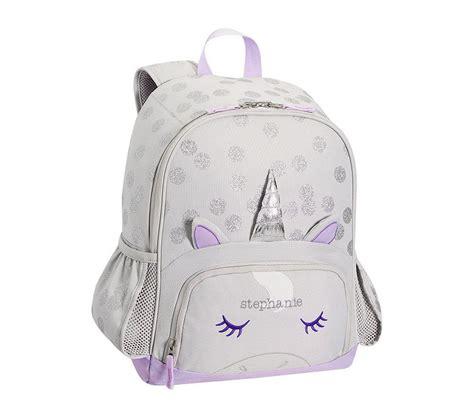 mackenzie grey unicorn backpack pottery barn kids au