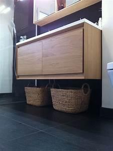 pour des rangement discrets dans une petite salle de bain With lavabo petite salle de bain