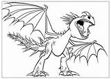 Coloring Stormfly Angry Dragon Pages Train sketch template