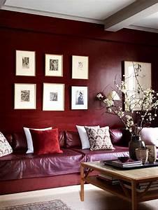la couleur bordeaux un accent dans linterieur contemporain With couleur pour salon moderne 1 table de salon transformable couleur bois et blanc