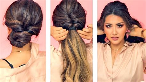 min everyday hairstyles  work  puff easy