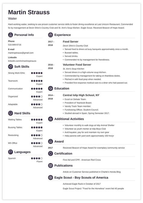 resume examples  teens templates builder guide tips