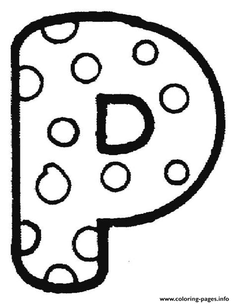 bubble letters a z letter p coloring pages printable 20715 | 1474769464bubble letter p